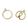 Bronze Plate Hook & Eye Clasp - Wire Round
