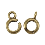 Bronze Plate Hook & Eye Clasp - Slip Lock Medium Mini