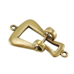 Bronze Plate Hook & Eye Clasp - Contemporary Large 26.6mm x 15mm - 1 Set