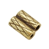 Bronze Plate Slide Ends - Double Strand 1mm