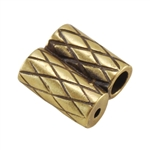 Bronze Plate Slide Ends - Double Strand 2mm