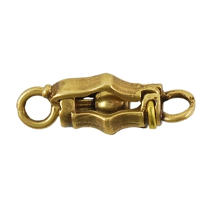 Bronze Plate Ball & Joint Clasp - Medium Barrel