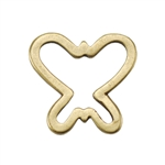 Bronze Plate Jump Ring - Butterfly 12mm x 12mm