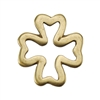 Bronze Plate Jump Ring - Four Leaf Clover 12mm
