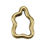 Bronze Plate Jump Ring - Amoeba 10mm x 7mm