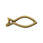 Bronze Plate Jump Ring - Fish Small 5.5mm x 14mm Pkg - 2