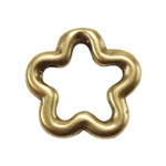 Bronze Plate Jump Ring - Flower Small 9mm Pkg - 2