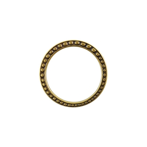 Bronze Plate Jump Ring - Fancy Dotted 25mm Pkg - 2