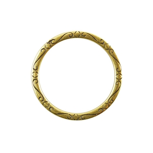 Bronze Plate Jump Ring - Fancy Flourish 31mm
