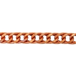 Copper Chain - Flat Double Curb 11mm - 1 Foot