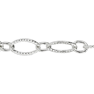 Silver Plate Chain - Pattern Link 6.88mm