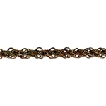 Vintage Old Stock Brass Chain Double Twisted Mesh