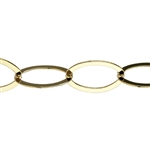 Brass Plate Chain - Flat Open Cable 16.64mm