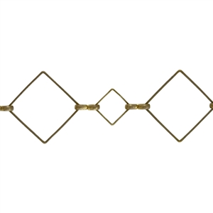 Brass Chain - Squares