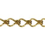 Brass Chain - Ladder 8.2mm - 1 Foot