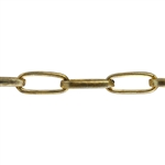 Brass Chain - Drawn Cable 12.6mm - 1 Foot