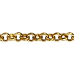 Brass Chain - Rolo Cable 3.5mm - 1 Foot