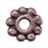 Copper Plate Beaded Heishi - 6mm