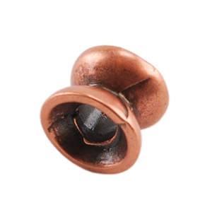 Copper Plate Spacer - Double Cup - 6mm x 5mm Pkg - 4