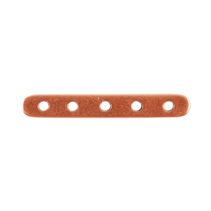 Copper Plate Bar Spacer - Quintuple Strand Pkg - 2