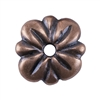 Copper Plate Bead Cap - Carved Flower