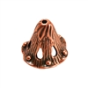 Copper Plate Bead Cap - Canturbury Bell 6mm