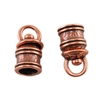 Copper Plate End Caps - Swivel Floral 5mm