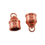 Copper Plate End Caps - Swivel Floral 10mm Pkg - 2