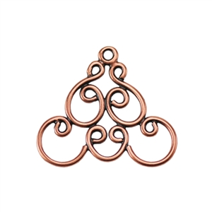 Copper Plate Connector - Filigree Triangle Connector