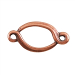Copper Plate Connector - Fancy Oval Pkg - 2
