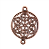 Copper Plate Connector - Eternal Fleur de Lis