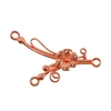 Copper Plate Connector - Flower & Springs