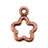 Copper Plate Charm - Open Flower