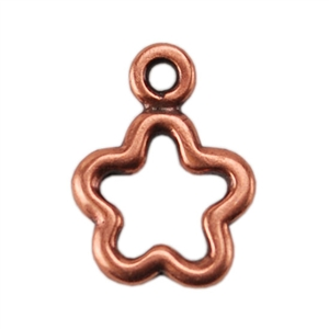 Copper Plate Charm - Open Flower Pkg - 1