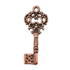 Copper Plate Charm - Key Small
