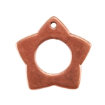 Copper Plate Charm - Star Pkg - 1