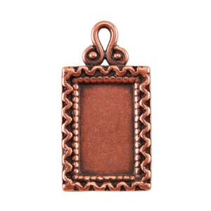 Copper Plate Pendant - Fancy Frame Pkg - 1