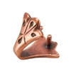 Copper Plate Pinch Bail - Decorative