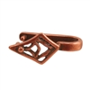 Copper Plate Pinch Bail - Tribal Diamond