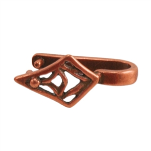 Copper Plate Pinch Bail - Tribal Diamond Pkg - 2