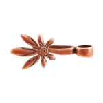 Copper Plate Pinch Bail - Asymmetric Daisy Pkg - 2