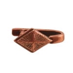 Copper Plate Pinch Bail - Diamond