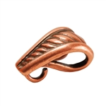 Copper Plate Pendant Bail - Rope