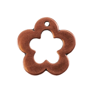 Copper Plate Charm - Flower Pkg - 1