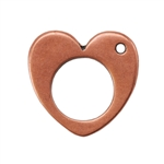 Copper Plate Charm - Heart Pkg - 1