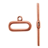 Copper Plate Toggle Clasp - Capsule