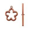 Copper Plate Toggle Clasp - Flower