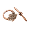 Copper Plate Mini Toggle Clasp - Floral Bouquet