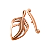 Copper Plate Mini Toggle Clasp - Birch Leaf
