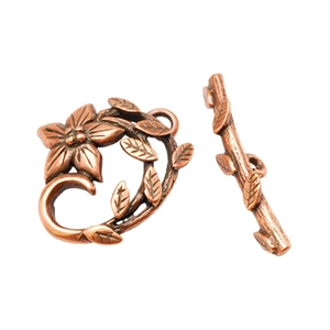 Copper Plate Mini Toggle Clasp - Dogwood